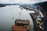 The Portland Harbor Superfund Site covers both sides of the Willamette River from Portland's Broadway Bridge to Sauvie Island, and covers areas that have served both historically and currently as centers of heavy industry.