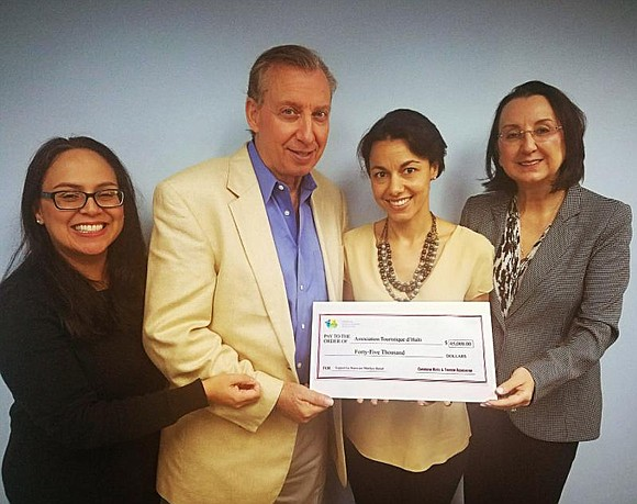 The Caribbean Hotel and Tourism Association presented checks totaling $70,000 to hotel associations in Haiti and the Bahamas to assist ...