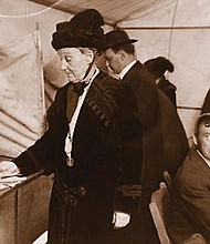 Abigail Scott Duniway votes in an Oregon election in 1914 after six campaigns and nearly 30 years of work to give women the right to vote. Multnomah County will rename its elections building in southeast Portland on Wednesday to honor Duniway and Esther Pohl Lovejoy, another leader in the women's suffrage movement in Oregon.