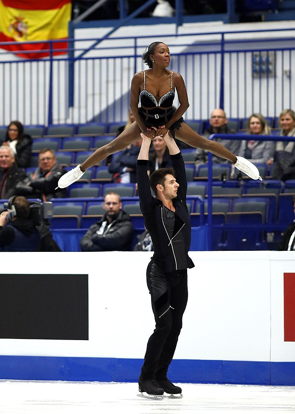 After their bronze medal performance at the 2017 European Figure Skating Championships in Ostrava.