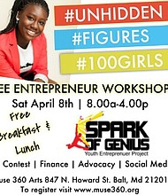 Muse 360 Arts is hosting a unique and free full-day conference called, UNHIDDEN FIGURES. The Conference, which falls under Muse 360 Arts' Spark of Genius (SOG) programming will be centered on innovation, entrepreneurship and cultivating future leaders.