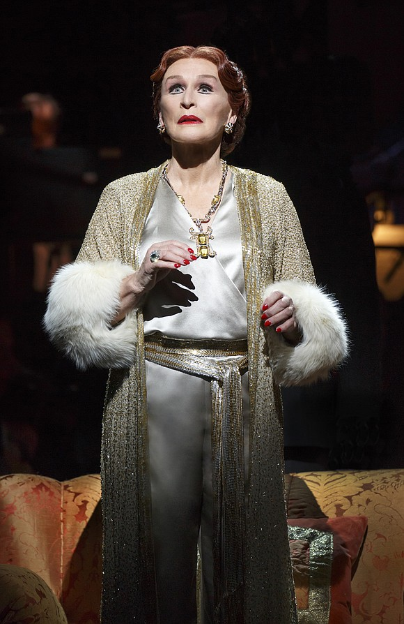 "Glenn Close is colossal! Her return to the role of Norma Desmond in Andrew Lloyd Webber's Broadway revival of ""Sunset ..."