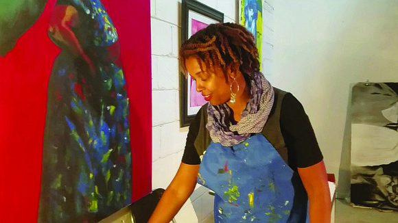 """Artist Charmaine Minniefield's """"Footsteps in Time"""" exhibit is on display through March 25 at the Stonecrest Library. Minniefield, an art ..."""
