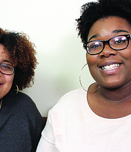 McDaniel College students, Kylah Chadwick and Khadijah Poston, have organized a natural hair curl conference at the school on Sunday, March 26, 2017.