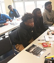 Young men learn about apprenticeships and self-sufficiency during a workshop at the new program called B.L.A.C.K. (Becoming Leaders Acquiring Critical Knowledge) founded by Annapolis native Deonte Ward. The 27-year-old is actively taking steps to make a difference in the community by making a positive impact in the lives of young, black men.