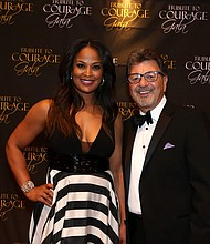 Laila Ali and Dr. Felice L. Loverso, President and Chief Executive Officer of Casa Colina