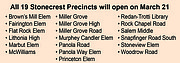 All 19 Stonecrest Precincts will open on March 21