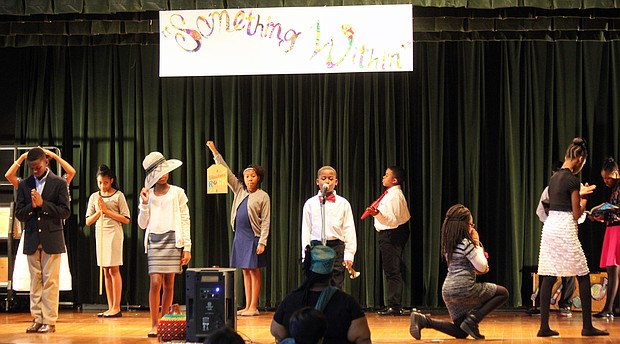 """Something Within,"" Lucie E. Campbell's signature song, was the theme as students at Lucie E. Campbell Elementary School held a program in her honor during on Feb. 23 during African American History Month. (Courtesy photo)"