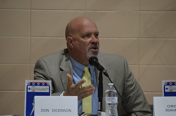 "Don ""Duck"" Dickinson is running for 1 of 3 open, at-large seats on the Joliet City Council."