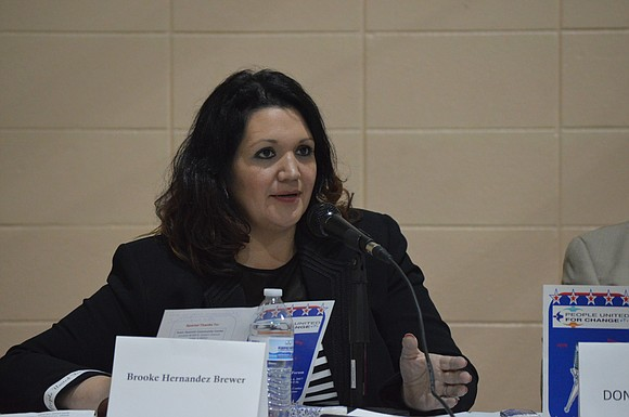 Brooke Hernandez Brewer is a candidate for at-large council seat in Joliet.