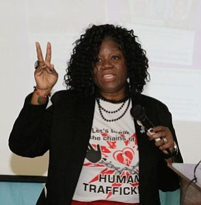 Denise R. Poole, Founder of Heart 2 Heart Services was the featured speaker at The South Jersey Chapter of the Links, Inc. -- Photo by April A. Ward