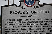 Commemoration marchers made there way to this historical marker. (Photo: Ramona Pearson-Porter)