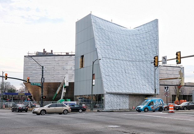 The new Institute for Contemporary Art at Virginia Commonwealth University continues to take shape on the southwest corner of Belvidere and Broad streets. 