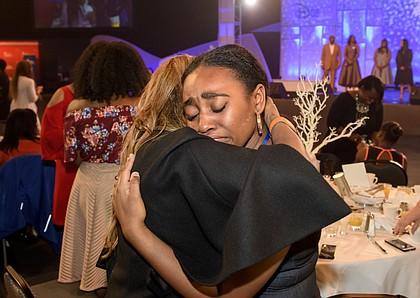 Students were emotional during the commencement ceremony at the 10 Disney Dreamers Academy.