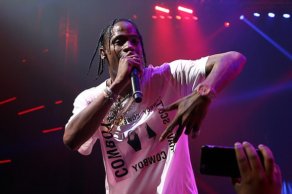 Travis Scott also talks about his infamous fall on stage last month in London in an interview with British GQ ...