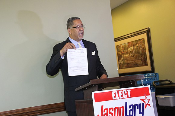 Stonecrest mayoral candidate Jason Lary dares rivals to reveal personal info to public, presumably to separate himself from the pack ...