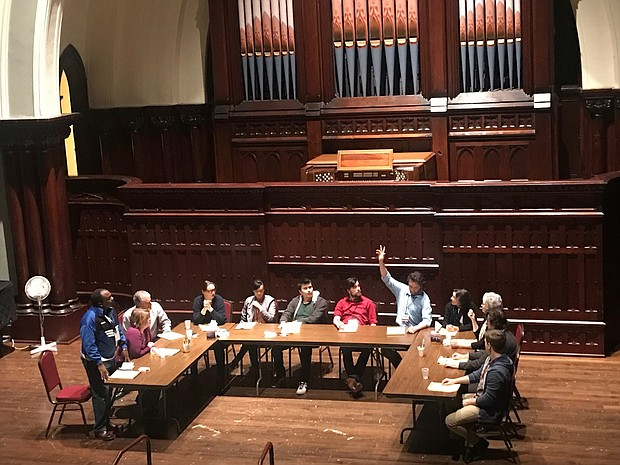 "Tempers fly as issues of race and class erupt in '12 Angry Jurors' an award-winning  play  presented by the social justice theater group ""Voice for Voiceless Theater"" on Friday through Sunday, March 17-19, at 7:30 p.m., at the First Congregational United Church of Christ, 1126 S.W. Park Ave."