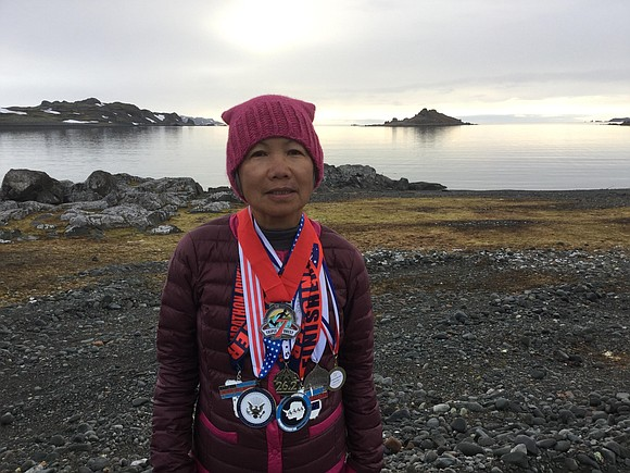 Seventy-year-old Chau Smith wanted to challenge herself even further, so she decided to run seven marathons in seven days on ...