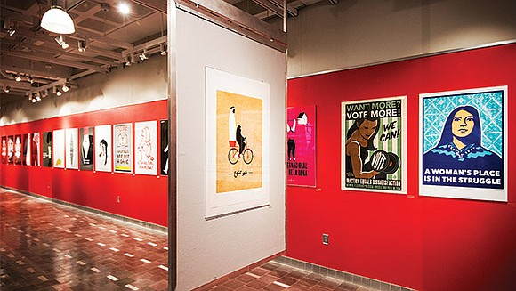 """""""Women's Rights are Human Rights,"""" on display at Northeastern's 360 Gallery through April 17, provides a heart-wrenching look at present-day ..."""