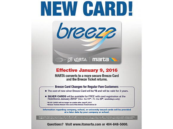 MARTA is transitioning from the blue to the more secure silver cards this month in order to reduce fraud, waste ...