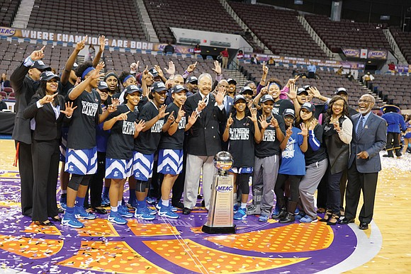 "Hampton University's women's basketball squad has succeeded in meeting its first goal — a quest dubbed ""6 for Six."""