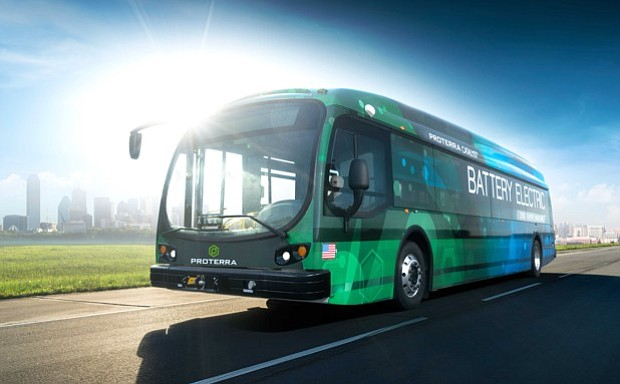 MARTA is showcasing electric bus on loan to them as they go green on St. Patrick's Day. This is part of the agency's efforts as procuring more fuel efficient, environmentally-safer buses.