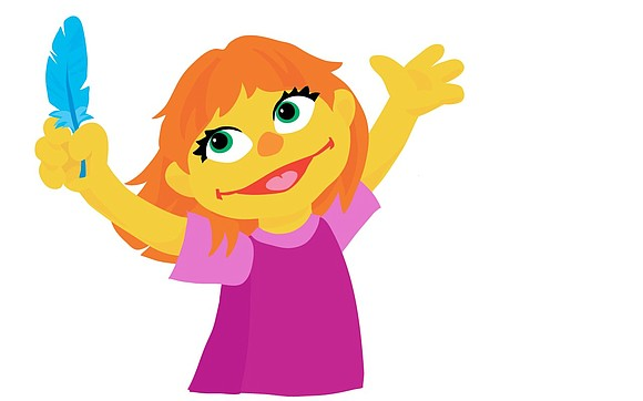 "The newest resident of ""Sesame Street"" has orange hair and a fondness for her toy rabbit. She also has autism. ..."