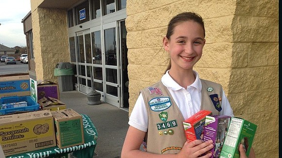 Fifteen-year-old Girl Scout Katie Francis knows a thing or two about the art of the sell. Since joining her Oklahoma ...
