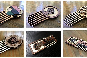 Afro Futuristic Hair Styling Combs produced by Carbon-AR