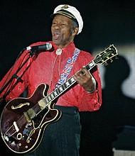 Guitarist, singer and songwriter Chuck Berry performs in Monaco in 2009.