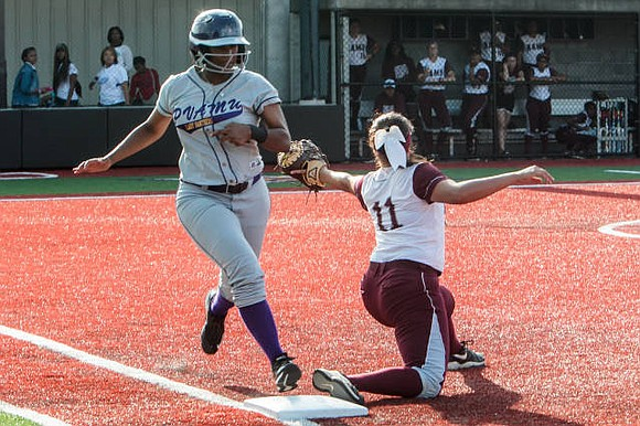 Prairie View A&M swept Jarvis Christian in Monday double-header action by scores of 8-0 and 8-7
