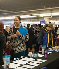 Job seekers meeting face to face with recruiters at the Urban League of Portland's 2016 Job Fair.