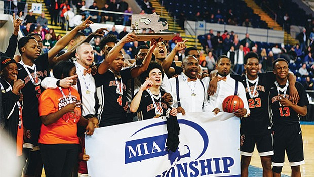 The Brighton High boys' basketball team capped their remarkable season winning the Division 2 State title last Saturday, March 18 at the Mass Mutual Center in Springfield.  The Bengals clashed with Nashoba and won the game 82-58. Previously, the team won the Division 2/North title and city league championship in mid-February. Led by coach Hugh Coleman, the team ends at 23-5.
