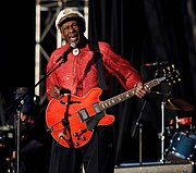 Chuck Berry performs at Virgin Mobile Festival in Baltimore, Maryland August 9, 2008. REUTERS