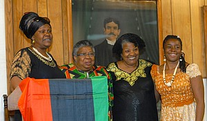 Activist and educator, Leola Maddox (second from left) has passed away.