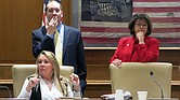 (right) Sen. Dolores Gresham chairs the Senate Education Committee. On Wednesday, she tabled a $71 millio voucher like proposal for consideration next year. (Photo: Grace Tatter/Chalkbeat Tennessee)