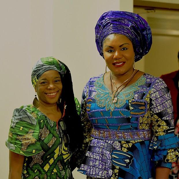 AmNews Editor Nayaba Arinde and Chief Ebelechukwu Obiano