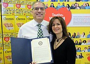 David and Renee Zallie with their Congressional Proclamation. - Submitted Photo