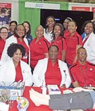 BCCC faculty, staff and students at the 8th annual B'More Healthy Expo on Saturday, March 18, 2017 at the Baltimore Convention Center.