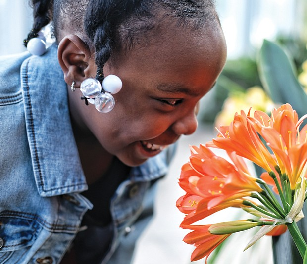 Smelling the flowers //