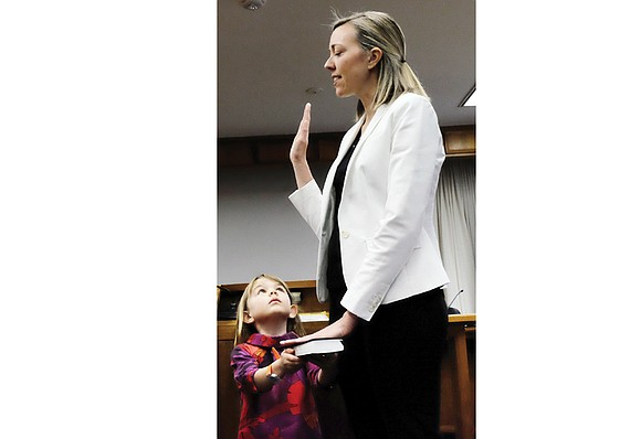 Cindy Menz-Erb, a former nonprofit agency executive who moved to Richmond last year, was sworn in Tuesday as the new ...