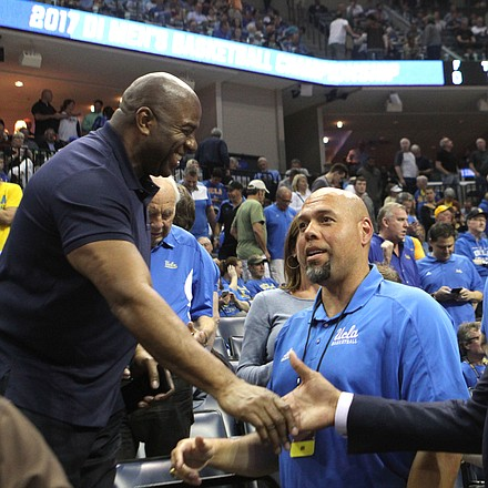 Celebrity sighting Magic Johnson and Grant Hill were in attendance at the game.