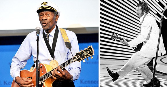 Chuck Berry, rock 'n' roll's founding guitar hero and storyteller who defined the music's joy and rebellion in such classics ...