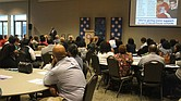 Superintendent Dorsey Hopson speaks Monday night to about 175 educators, parents and students gathered to learn about Shelby County Schools' plan to make new investments in struggling schools