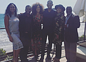 """Cast of """"Fresh Prince of Bel-Air"""" poses for photo."""