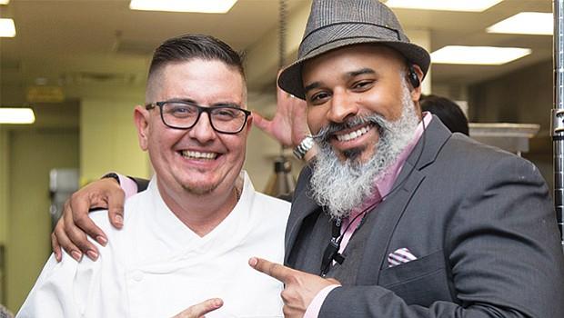 Chef Carlo Marini and Operations Manager Emanuel Billalobos