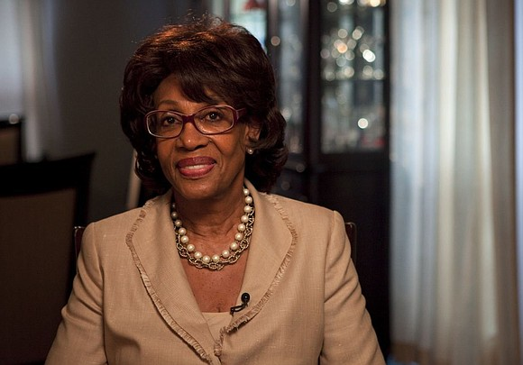 Congresswoman Maxine Waters says President Donald Trump is racist for joking about her intelligence and again called for his impeachment.