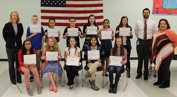 The Shorewood Lions Club recognized Troy Community School District 30-C February Students of the Month at the school district's March ...