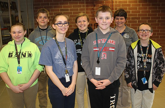 Two Troy Middle School students will be advancing to the 2017 MathCON Midwest Regional Finals in April, and four were ...