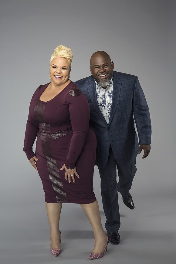"David and Tamela Mann's new TV One show, ""The Manns,"" which premiered April 4 and will run Tuesday nights at ..."